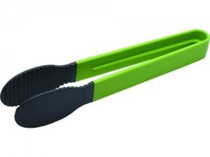 FACKELMANN ICA NYLON SERVING TONG WITH GREEN PLASTIC HANDLE