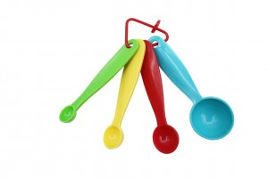 Set Of 4 Measuring Spoon Assorted Colours